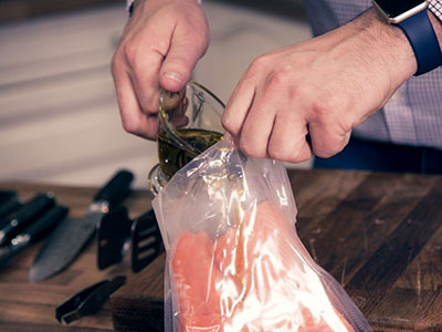 Industry-first compostable sous vide pouches